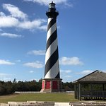 The lighthouse is less than 5 minutes from Cape Pines motel.