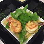Thai green tiger prawn stir fry