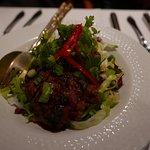 Hot beef salad