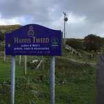 Harris Tweed shop just a few minutes drive from the B&B.