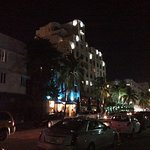 View of Ocean Drive Art Deco district in the early evening