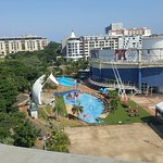 Water park at hotel complex