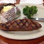 Steak & jacket pot, alot of butter, steak was nice.