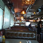 Nicko's has an art-deco meets old-time diner feel. Love it!