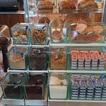 Awesome toppings bar at breakfast