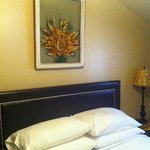 Inside the Bluebonnet Lodge room, the one bedroom