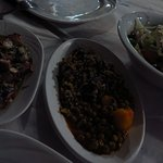 octopus, araka(peas) and greek salad
