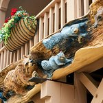 Our carvings located on the outside of the building, handcarved