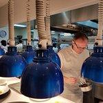 Our executive chef, Bill Telepan, hard at work