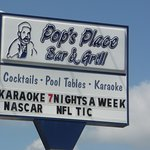 This is the sign right outside Pop's. You know you're at the right place when you see this sign.
