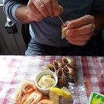 Bulots crevettes mayonnaise maison