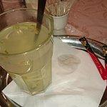 Zazvorovy caj aj so supou v sklenenom pohari... chutovka.