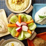 Greek Spreads & Fresh, Crisp Vegetables