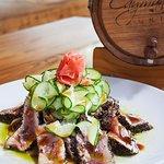 Cayman Grill Tuna Cucumber Salad