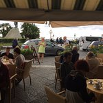 Streetside cafe in Amalfi