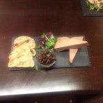 chicken liver pate, onion chutney and crusty bread