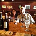 Enjoying a glass of wine!