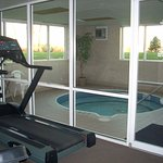 No pool, just the whirlpool w/i view of workout center