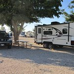 Spacious parking, easy to maneuver our 22' camper. Nice shade for about every spot for summer.