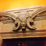 Cantera stone detail over doorways