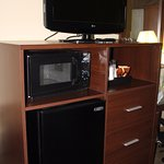 microwave, fridge and coffee machine available inside room