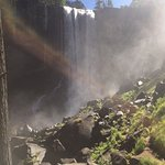 Vernal Fall from downstream through the mist