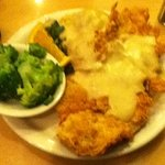 Country Fried Chicken & Mashed Potatoes with Gravy with Broccoli & Side Salad (not pictured)