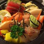Chirashi sushi rice bowl