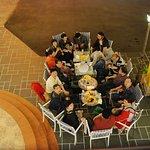 Midnight patio gathering