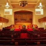 Sanctuary of the 16th Street Baptist Church.