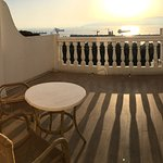 Fantastic large, private balcony with sunset sea views
