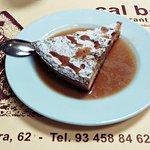 Almond cake with desert wine yummy