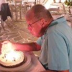 Got a cake on my birthday, very nice.