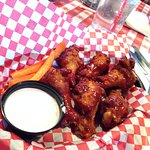 BBQ wings at Village Pizzeria At Coronado San Diego