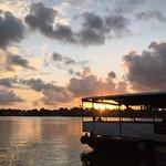 Porto do sol no Pier no lado da ilha