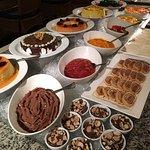 Mesa de sobremesas do jantar