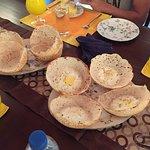 Classic Sri Lankan breakfast