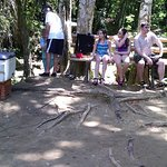 After climbing the falls stop have a beer or coconut water as u seen in the picture at blue hole