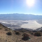 Beautiful view over Death Valley and Badwater just below