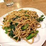 Chicken with Udon noodles at Bangkok Noodles and Thai BBQ Cafe San Francisco