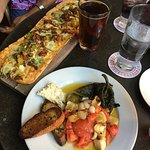 Mexicali Flatbread and Peppers & Oil Tapas Style