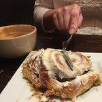 mmm so good and warm cinnamon roll