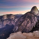Half Dome at sunrise from the Panorama Trail