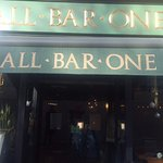 Front of All Bar one