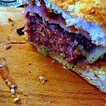 Succulent burger...
