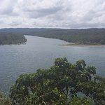 Vista de la desembocadura del rió Chagres desde el Fuerte