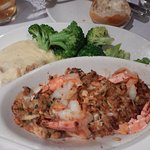 Delicious Baked Stuffed Shrimp Casserole (with buttery Crabmeat stuffing)! Yum!!