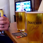 1x telly in the Bicknoller Inn (plus 2 pints of Thatchers and a cheesy chip!)