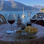 view from Bar Il Molo onto Lake Como