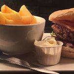 Try our steak burgers! 6oz of handcrafted 100% pure ground beef on a floury bap!